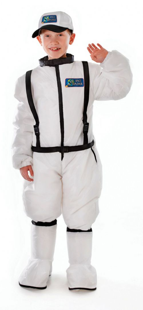 Boys Astronaut Childs Costume NASA Space Pilot Fancy Dress Outfit